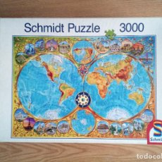 Puzzles: PUZZLE 3000 PIEZAS SCHMIDT – MAPAMUNDI LAS MARAVILLAS DEL MUNDO.. Lote 221508202
