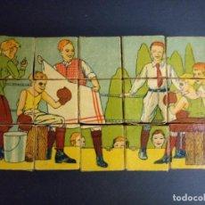 Puzzles: ANTIGUO PUZLE ROMPECABEZAS - NIÑOS BOXEANDO Y CINCO DIBUJOS MÁS - 20 CMS. Lote 221879346