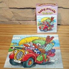 Puzzles: PATO DONALD Y DAISY - BABY PUZZLE, COMIC CARS - MIKA - AÑOS 70/80 - COMPLETO - EN SU CAJA. Lote 222080021