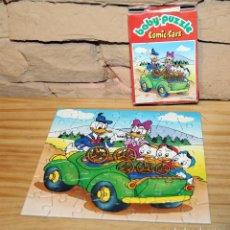 Puzzles: DONALD, DAISY Y SUS SOBRINOS - BABY PUZZLE, COMIC CARS - MIKA - AÑOS 70/80 - COMPLETO - EN SU CAJA. Lote 222080142
