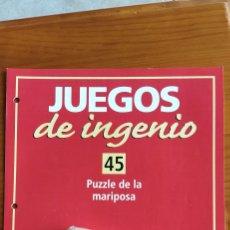 Puzzles: JUEGOS DE INGENIO N 45. Lote 222142095