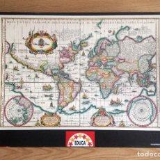 Puzzles: PUZZLE 6000 PIEZAS EDUCA – MAPAMUNDI ANTIGUO.. Lote 222214113
