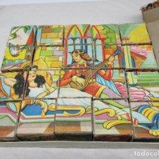 Puzzles: ROMPECABEZAS ANTIGUO FORMADO POR 20 CUBOS DE CARTÓN. Lote 222675097