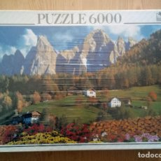 Puzzles: PUZZLE 6000 PIEZAS EDUCA – VALLE DE VILLNOSS, DOLOMITAS. ITALIA (DESCATALOGADO Y NUEVO). Lote 222761836
