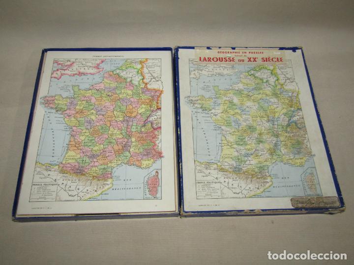 Puzzles: Antiguo Puzzle Rompecabezas de FRANCIA por Departamentos de Juegos Artísticos - Año 1950-60s. - Foto 4 - 223238290