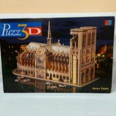 Puzzles: MB PUZZLE 3D DE LA CATEDRAL NOTRE DAME PARÍS CON CAJA E 952 PIEZAS COMPLETO PUZZ3D. Lote 224005978