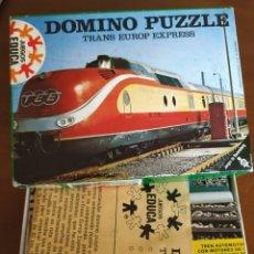 Puzzles: DOMINÓ PUZZLE TRANS EUROP EXPRESS.TREN.JUEGOS DE RAVENSBURG. EDUCA 1969. REF. 15.550.. Lote 224337041