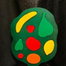 Puzzles: ENCANTADOR PUZZLE - ROMPECABEZAS INFANTIL EN MADERA, IDEAL COMO ADORNO. ARBOL CON FRUTAS. 32CMS ALTO. Lote 224567805