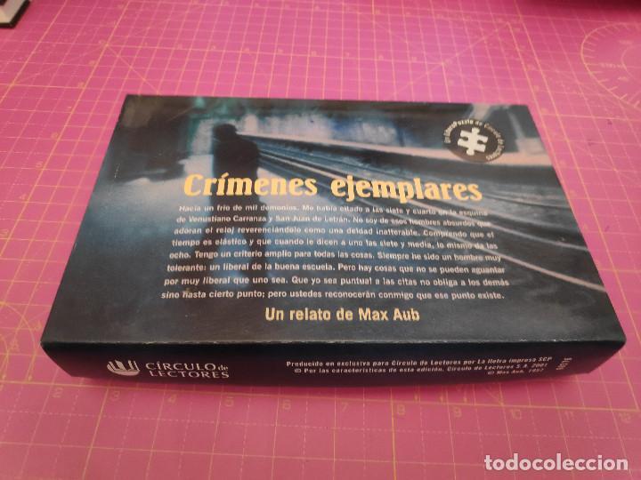CRÍMENES EJEMPLARES - RELATO DE MAX AUB - LITERA PUZZLE - CÍRCULO DE LECTORES (Juguetes - Juegos - Puzles)