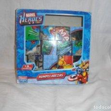 Puzzles: PUZZLE ROMPECABEZAS MARVEL HEROES 16 CUBOS.JUEGOS FALOMIR 2010. Lote 227259450