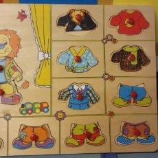 Puzzles: PUZZLE VESTIR AL FELINO.. MEDIDAS 30*22 CM.. Lote 227798775