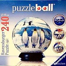 Puzzles: PUZZLE BALL 240 PIEZAS NUEVO PRECINTADO PUZZLEBALL PUZLE BOLA JUEGO PINGUINOS RAVENSBURGER. Lote 228007475