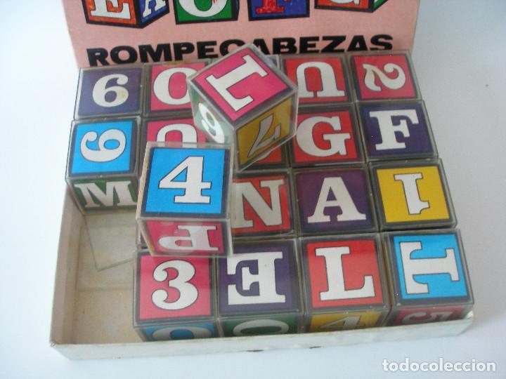Puzzles: Rompecabezas cubos plástico números y letras Borrás años 70 - Foto 2 - 85314450