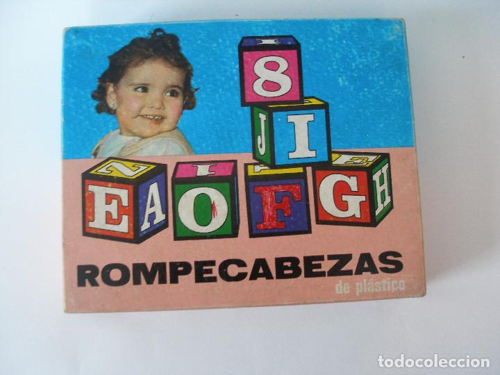 Puzzles: Rompecabezas cubos plástico números y letras Borrás años 70 - Foto 3 - 85314450