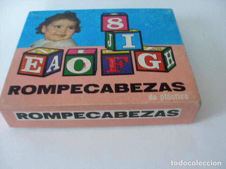 Puzzles: Rompecabezas cubos plástico números y letras Borrás años 70 - Foto 4 - 85314450
