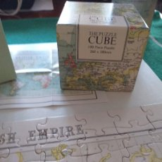 Puzzles: PUZZLE EN CAJA CUADRADA DE CARTON DURO MAPA MUNDI 100 PIEZAS. Lote 228887940