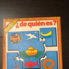 Puzzles: PUZZLE ANTIGUO MADERA DE QUIEN ES? 1979 EDUCA. Lote 230714545
