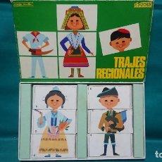 Puzzles: ANTIGUO PUZZLE JUEGO EDUCATIVO TRAJES REGIONALES DE DIDACTA REF 1707 - AÑOS 80. Lote 231033865