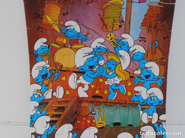 Puzzles: PUZZLE MURAL, LOS PITUFOS, FESTIVAL, DIDACTA DE JUGUETES, REF 3551, ESPUMILLA, AÑOS 80 - Foto 3 - 232799940