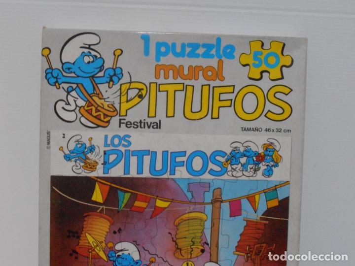 Puzzles: PUZZLE MURAL, LOS PITUFOS, FESTIVAL, DIDACTA DE JUGUETES, REF 3551, ESPUMILLA, AÑOS 80 - Foto 6 - 232799940