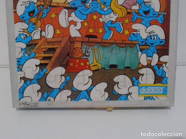 Puzzles: PUZZLE MURAL, LOS PITUFOS, FESTIVAL, DIDACTA DE JUGUETES, REF 3551, ESPUMILLA, AÑOS 80 - Foto 7 - 232799940