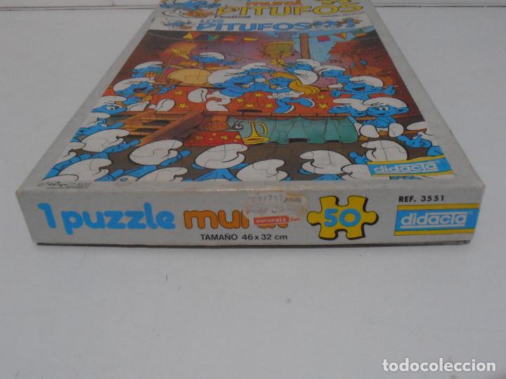Puzzles: PUZZLE MURAL, LOS PITUFOS, FESTIVAL, DIDACTA DE JUGUETES, REF 3551, ESPUMILLA, AÑOS 80 - Foto 8 - 232799940