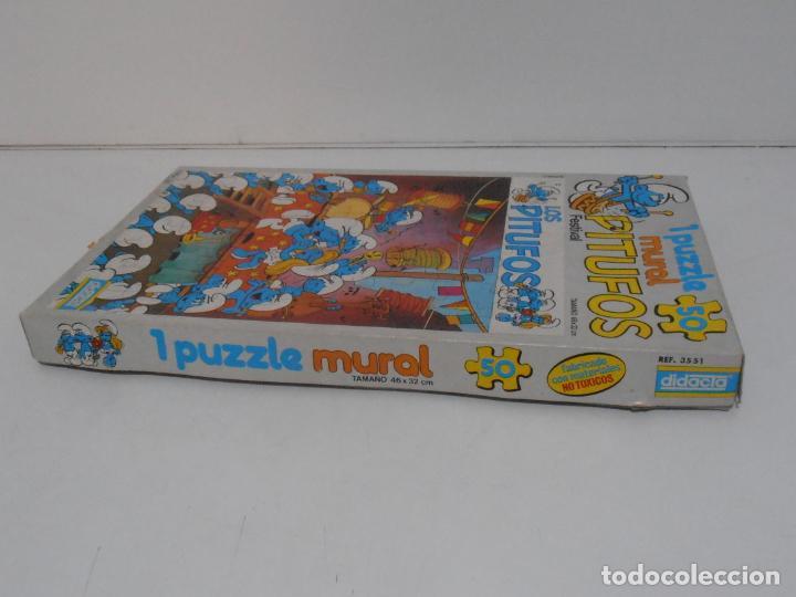 Puzzles: PUZZLE MURAL, LOS PITUFOS, FESTIVAL, DIDACTA DE JUGUETES, REF 3551, ESPUMILLA, AÑOS 80 - Foto 9 - 232799940