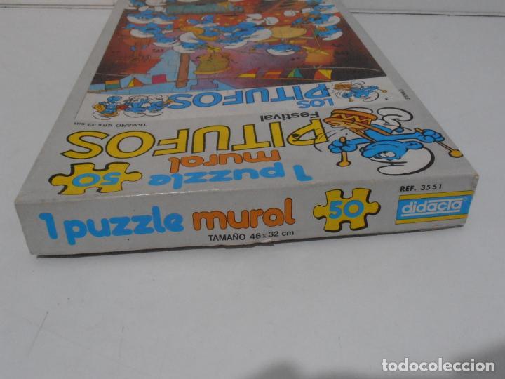 Puzzles: PUZZLE MURAL, LOS PITUFOS, FESTIVAL, DIDACTA DE JUGUETES, REF 3551, ESPUMILLA, AÑOS 80 - Foto 10 - 232799940