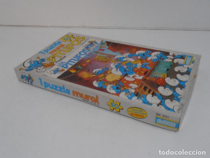 Puzzles: PUZZLE MURAL, LOS PITUFOS, FESTIVAL, DIDACTA DE JUGUETES, REF 3551, ESPUMILLA, AÑOS 80 - Foto 11 - 232799940