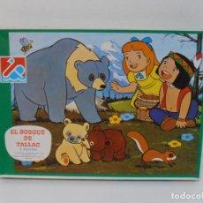 Puzzli: PUZZLE EL BOSQUE DE TALLAC, JACKIE Y NUCA, 2 PUZZLES DALMAU, COMPLETOS, AÑOS 80. Lote 232878920