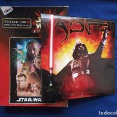 Puzzles: PUZZLE 1000, STAR WARS, EPISODIO 1 Y CALENDARIO DE DARTH VADER 2006. Lote 233401540