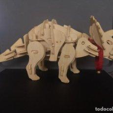 Puzzles: DINOSAURIO PUZZLE 3D ROBOTIC EN MADERA CON SONIDO. Lote 235094095