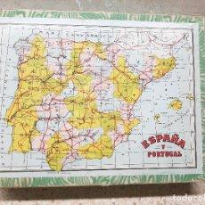 Puzzli: PUZLE DE ESPAÑA Y PORTUGAL CON LAMINAS DE ENRIQUE BORRAS CARTON DURO EN CUBOS, AÑOS 50.. Lote 237196025