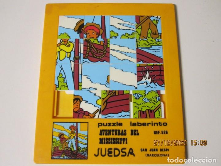 ANTIGUO PUZZLE LABERINTO. AVENTURAS DEL MISSISSIPI. JUEDSA REF 526 (Juguetes - Juegos - Puzles)