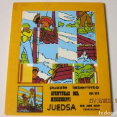 Puzzles: ANTIGUO PUZZLE LABERINTO. AVENTURAS DEL MISSISSIPI. JUEDSA REF 526. Lote 237953385