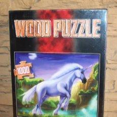 Puzzles: WOOD PUZZLE - UNICORNIO - 1000 PIEZAS - NUEVO Y PRECINTADO. Lote 238551035