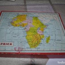 Puzzles: PUZLE DE CUBOS MAPAS MUNDIALES, EUROPA. ESPAÑA, AFRICA, AMÉRICA, ETC.... AÑOS 70. SAHARA ESPAÑOL,ETC. Lote 241801800