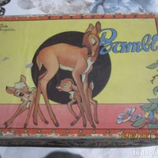 Puzzles: JUEGO DE CUBOS DE BAMBI AÑOS 40 CAJA ORIGINAL. Lote 243253410