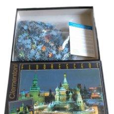 Puzzles: MOSCU PUZZLE FLUORESCENT CLEMENTONI 1000 PIEZAS , FABRICADO EN ITALIA, PUZZLE DE 1000 PIEZAS , LA PL. Lote 244883515