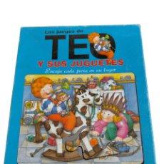 Puzzles: LOS JUEGOS DE TEO Y SUS JUGUETES NATHAN 4 TABLEROS CON 6 Y 9 PIEZAS PARA ENCAJAR. JUEGO PUZZLE , 4 P. Lote 244885690