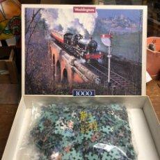 Puzzles: PUZZLE DE 1000 PIEZAS CON FOTOGRAFÍA DE TREN. Lote 245157420