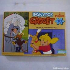 Puzzles: 2 PUZZLES INSPECTOR GADGET DE 30 PIEZAS 24X15 CM - DIDACTA - 1983. Lote 245611040