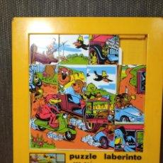 Puzzles: PUZZLE LABERINTO OSO YOGUI Y BUBU-20X17CM APROX-HANNA BARBERA-AÑOS 80-VER FOTOS. Lote 246344260