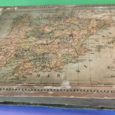 Puzzles: CONJUNTO DE TRES PUZZLES INCOMPLETOS ANTIGUOS DE MAPAS. Lote 247598095