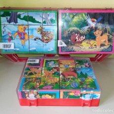 Puzzles: 3 PUZZLES DE CUBOS DE WALT DISNEY DE CLEMENTONI COMPLETOS ORIGINALES. Lote 251297950