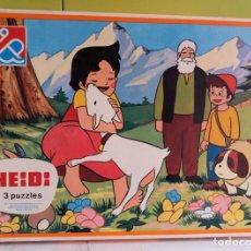 Puzzles: HEIDI ROMPECABEZAS. 3 PUZZLE PUZZLES AÑO 1975 - DALMAU CARLES PLA 1237. Lote 253958840