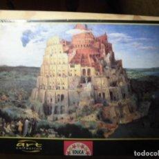 Puzzles: PUZZLE 1500 PIEZAS LA TORRE DE BABEL PIETER BRUEGHEL EDUCA PRECINTADO. Lote 257304030