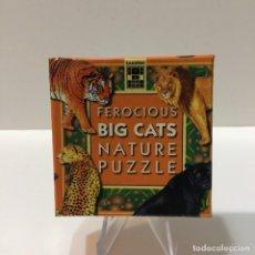Puzzles: PUZZLE 9 PIEZAS DE ANIMALES FEROCIOUS BIG CATS NATURE PUZZLE. Lote 257345910