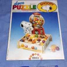 Puzzles: DECO PUZZLE DE MADERA TRIDIMENSIONAL DE SNOOPY DE EDUCA AÑO 1989 A ESTRENAR. Lote 261698410