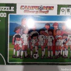 Puzzles: PUZZLE CAMPEONES OLIVER Y BENJI CAPTAIN TSUBASA EQUIPO 1000 PIEZAS. Lote 261793445